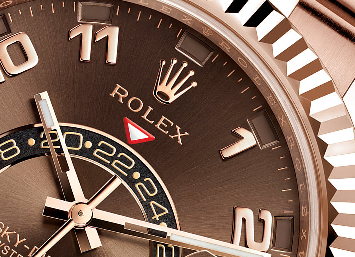 Pretty UK Rolex Sky-Dweller Chocolate Dial Fake Watches