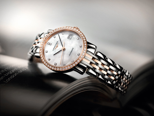 mother-of-pearl dial copy Longines Elegant Collection