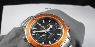 omega seamaster planet ocean chronograph orange