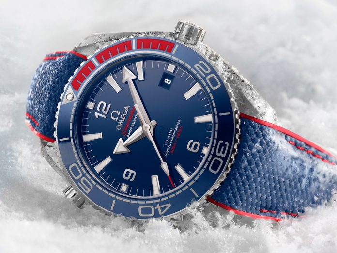 Omega Seamaster Planet Ocean 'PyeongChang 2018' Olympics Watch Watch Releases